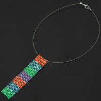 Stunning colourful drop necklet (Code 0588)
